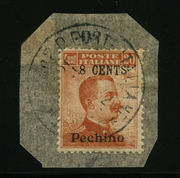 Pechino 8 cents/20 c. Michetti (23) su frammento.