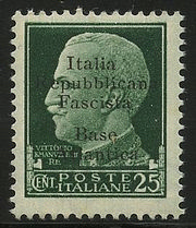It. Rep. Fascista Base Atlantica 25 c. (9). Carraro.