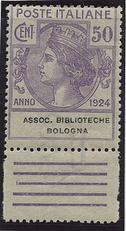 Assoc. Biblioteche Bologna 4 val. cpl. (1/4).