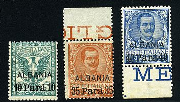 Floreale Albania 3 val. cpl. (1/3).